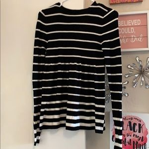 Cute black and white ombré striped sweater
